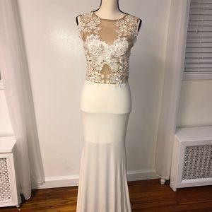Dresses & Skirts - White Lace Long Dress